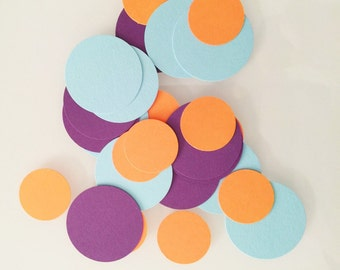 100 Pieces of Colorful Spots and Dots Hand Punched Confetti - Available in your choice of colors