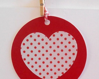 Love heart gift tag