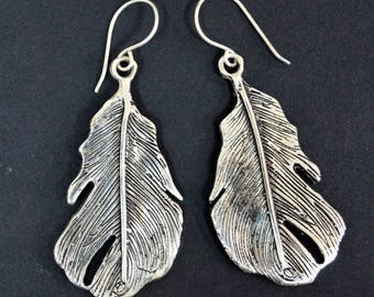 Sterling silver earrings: 'Nature series'