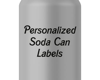 Personalized Soda Can Labels