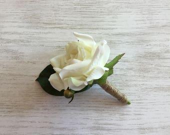 Boutonnière, Wedding  boutonnière, Faux boutonnière, Rose boutonnière, Artificial boutonnière, Prom boutonnière