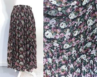 Bohemian Floral Maxi Skirt