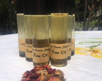 Rose Herbal Oil - 10ml Clear Roller