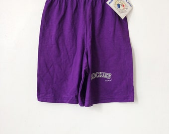 vintage colorado rockies shorts russell athletic youth size small deadstock NWT 1992