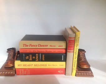 Vintage Book Stack, Vintage Books, Set of 7, 1950 to 1970, Fall Colors, Old Books, Book Decor, Book Collection, Wedding Decor, Book Bundle