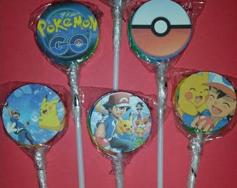 Pokemon lollipops Rainbow swirl 12pcs.
