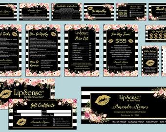 LipSense Marketing Kit, LipSense Marketing Bundle, SeneGence Business Card, LipSense Business Card, Gold Lip Package, LS02