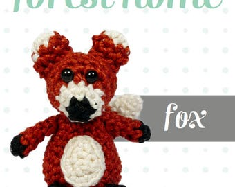 Cute mini Fox, amigurumi crochet pattern, PDF ENG
