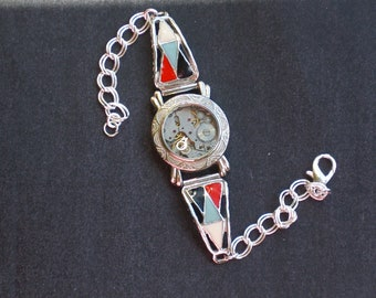 Steampunk Southwest Enamel Bracelet
