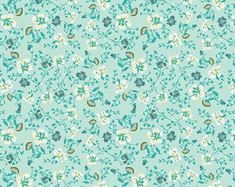 Wind Melody Soft from Anna Elise designed by Bari J for Art Gallery Fabrics, fabric yardage, cotton, floral quilting, girls dresses