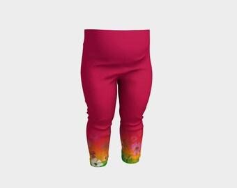Tye-Dye Flowers Hot Pink Baby Leggins