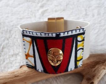 African fabric Cuff Bracelet