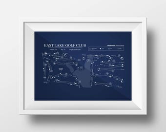 Digital Download - East Lake Golf Club Course Map