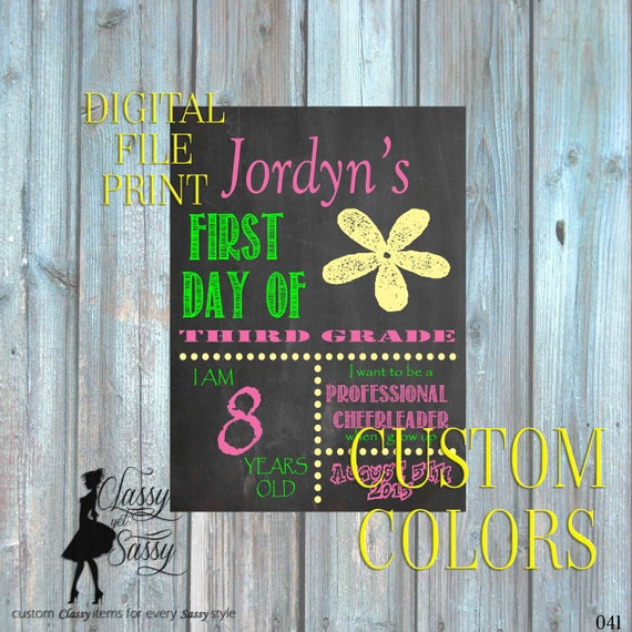 First Day Of School Chalkboard Sign 041