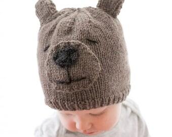 Teddy Bear Hat KNITTING PATTERN / Bear Hat Pattern/Baby Teddy Bear Hat/Animal Hat with Ears/Teddy Bear Beanie/Bear Animal Hat/Teddy Bear Hat