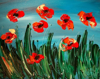 Mark Kazav FLOWERS   on stretched canvas