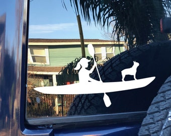 Custom Decal | Kayak with Dog | Kayak Decal | Paddle with Dog | Most Breeds | Customizable with your Dog