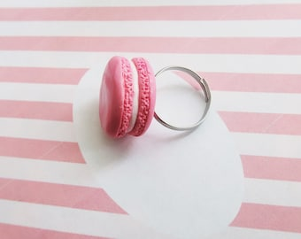 Macaron Ring - Food Jewelry, Food Ring, Macaron Jewelry, Miniature Food