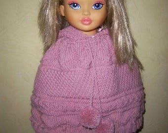 Poncho hooded girl 3/4 years