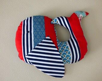 Plush whale Myriam/Whale plush fabric