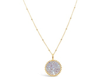 Opal Druzy Neckace, Druzy Jewelry, Drusy Necklace, Drusy Jewelry, Druzy Quartz Necklace, Bridesmaid Jewelry, Bridesmaid Necklace