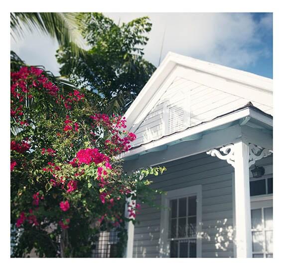 Bougainvillea Cottage, Fine Art Print, Photography, Cottage Coastal, Wall Home Decor