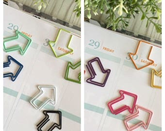 Set of Two Small Arrow Paperclips