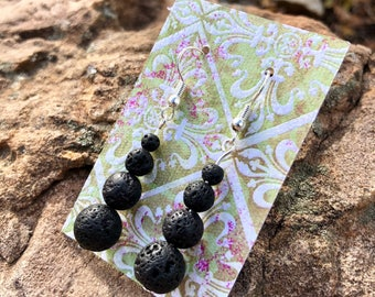 Lava Bead Essential Oil Diffusing Earrings