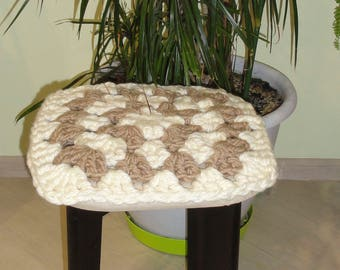 Crochet chair pad, chair cover, home decor, Kitchen Decor