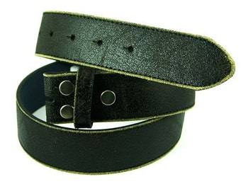 Distressed Leather Belt Strap, black or brown, G340