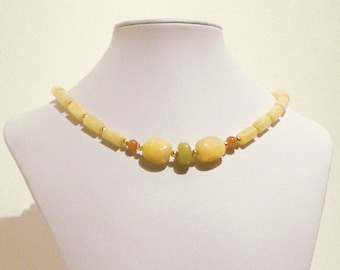Aragonite and Aventurine Handmade Necklace