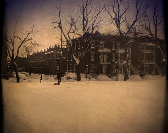 Winter Photography Landscape Photography Montreal Art The Lonely Pixel Snowy Landscape Dark Art -  Frozen Journey