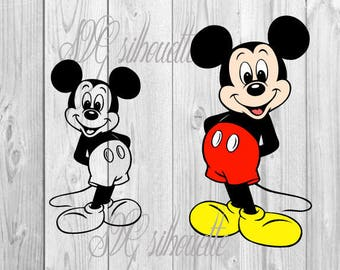 Mickey Mouse SVG Cutting file, heat transfer vinyl design, Vector Clipart, png, svg, eps, dxf files for Silhouette, Cricut - Vinyl # 7