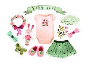 Baby girl printables Etsy