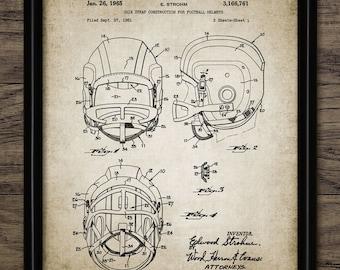 Vintage Football Helmet Patent Print