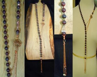 Natural Jasper 88 Lariat Necklace