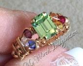 Crystal Chakra Ring, Vint...