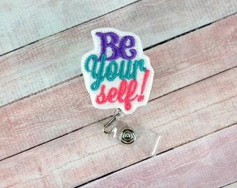 Paramedic badge reel etsy be yourself badge reel be yourself badge reel feltie badge reel retractable solutioingenieria Gallery