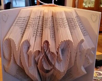 Book Folding Pattern 'Mr & Mrs' (384 Folds) PDF with Tutorial - Immediate Download
