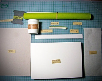 Bookbinding kit diy journal kit for a hardcover journal diy bookbinding kit for a coptic hardcover book with 60 pages bound with book cloth solutioingenieria Gallery