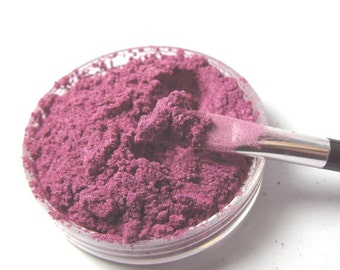 Hollyberry Eye Shadow Vegan Magenta Pink with Violet Sparkle Shimmer Mineral Makeup Pink Quartz Minerals