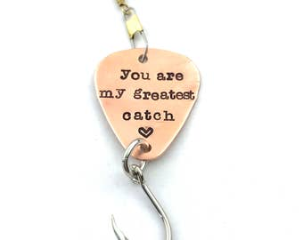 Custom Fishing Lure - Boyfriend Gift - Personalized Fish Hook - You Are My Greatest Catch - Anniversary Gift - Cute Gift for Him
