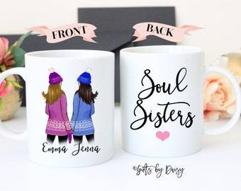 Personalized Best Friend Gift, Best Friend Gift, Friendship gift, coffee mug, Friendship custom, soul sisters mug, best friend mug