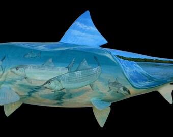 Custom Tattooed Bonefish Fish Mount