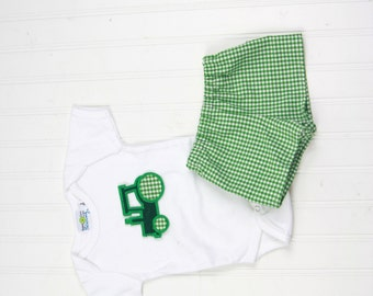 Baby Boy Clothes - Baby Boy Tractor Birthday Shirt - Baby Boy Shorts - Baby Boy Tee Shirt - Little Boys Bodysuit - Summer Shorts Outfit SCS