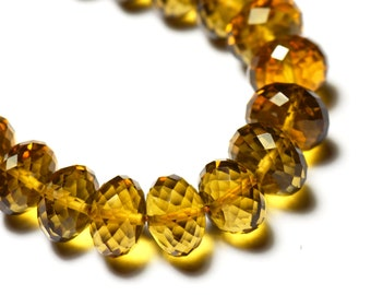 "8"" line 8-9mm AAA deep MADEIRA CITRINE Beads (we suggest using 0.010in 0.25mm wire)"