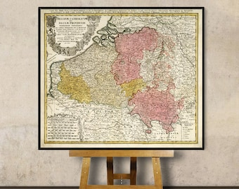 Antique map of Belgium and Luxembourg - Wonderful old map , fine print