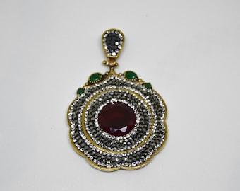 Hurrem sultan pendant, Silver pendant, Ottoman jewelry