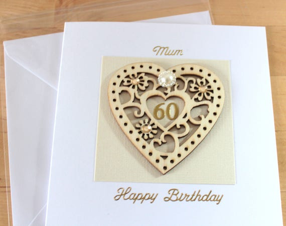 60th birthday card gift 60 60th birthday card mum mom like this item bookmarktalkfo Image collections