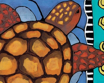 Save The Sea Turtle Print gift for animal lover